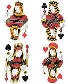 Four Queens no card — Stock Vector