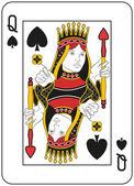 Reina de picas — Vector de stock