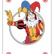 Joker playing card — Stock Vector