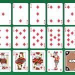 Diamonds Cards — Stock Vector