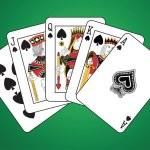 Royal Flush of Spades — Stock Vector #40512499