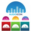 Audio equalizer icon — Stock Vector