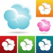 Stock Vector: cloud icons