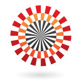 Round Abstract Striped Icon — Stock Vector