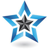 Colorful Abstract Star Icon — Stockvector