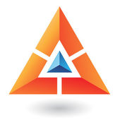 Triangle Pyramid Abstract Icon — Stock Vector