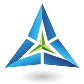 Triangelikonen pyramid abstrakt — Stockvektor