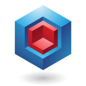 Cubical Abstract Icon — Stockvektor