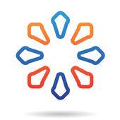 Kleurrijke geometrische abstracte pictogram — Stockvector