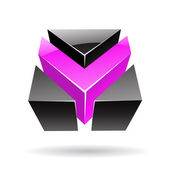 Colorful 3d Cubical Abstract Icon — Stockvektor