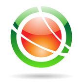 Colorful Planet Orbit Abstract Icon — Stockvektor