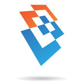 Colorful Rectangular Abstract Icon — Stockvector