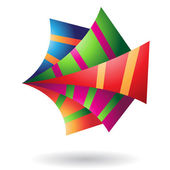 Origami Paper Abstract Icon — Stock Vector
