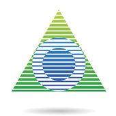абстрактный значок треугольника пирамиды — Cтоковый вектор