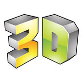 3d Display Technology Symbol — Stock Vector