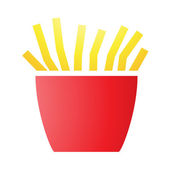French Fries Icons — Stock Vector