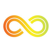 Infinity Symbol Design — Stock Vector
