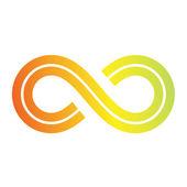 Diseño del símbolo de infinito — Vector de stock