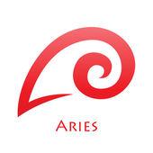 Simplistic Aries Zodiac Star Sign — Vetorial Stock