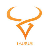 Simplistic Taurus Zodiac Star Sign — Stock Vector