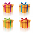 Gift Boxes Set — Stock Vector