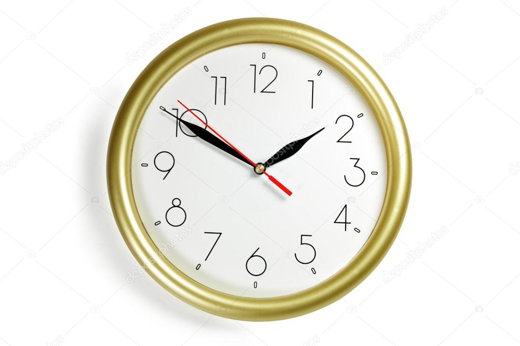 Wall clock on white background  — Stock Photo #18624429