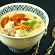 Stock Photo: Chicken coconut soup