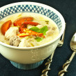 Chicken coconut soup - 图库照片
