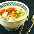 Chicken coconut soup - Stock Photo