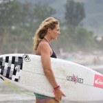 Stephanie Louise Gilmore, world champion of the Women's ASP World Tour — Stock Photo