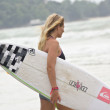 Stephanie louise gilmore, campeão do mundo de asp world tour das mulheres — Fotografia Stock  #12947791