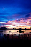 A beautiful sunrise in the fisherman Village. — Stock Photo