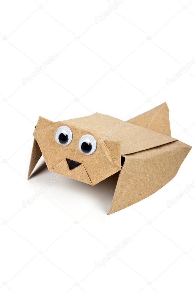 Летающая белка оригами корзины