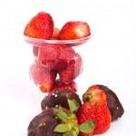 Strawberries isolated on white — Stock Photo