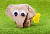 Animal origami recycle paper — Stock Photo