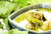 Chicken green curry — Stock Photo