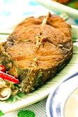 Thajské smažené ryby — Stock fotografie