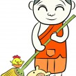 Little monk — Stock Vector #26348293