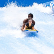 Stock Photo: PHUKET THAILAND SEPTEMBER 16: Unidentified surfer on Flow Ri