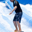 PHUKET THAILAND SEPTEMBER 16: Unidentified surfer on the Flow Ri — Stock fotografie