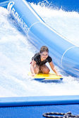 PHUKET THAILAND SEPTEMBER 16: Unidentified surfer on the Flow Ri — Stock Photo