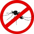 Stock Vector: Stop mosquito sign (insect repellent emblem )