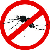 Stop mosquito sign (insect repellent emblem ) — Stock Vector