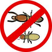 Termites insect repellent emblem — Stock Vector