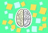 Brain function — Stock Vector