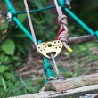Climbing equipment, pulley — Stok Fotoğraf #33429377
