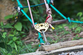 Climbing equipment, pulley — Stock Photo