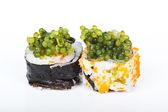 Grapes seaweed shushi — Stock Photo