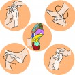 Hand draw Reflexology — Stock Vector