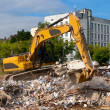 Royalty-Free Stock Photo: Excavator parses trash